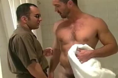 Buff guy acquires dirty After A Squeaky Clean Shower