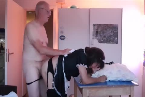 Maid Sissy Cleans house Sucks cock gets pounded
