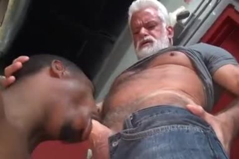 JAKE-SILVER DADDY THE BARBER pound HIS dark hole