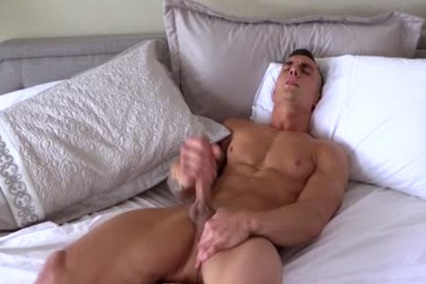 Different males With large penises Jerking-off