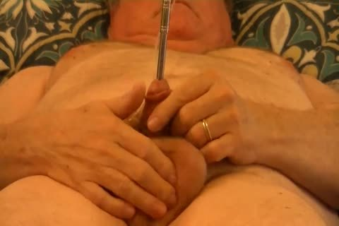 Sounding With cock And Stroking To orgasm