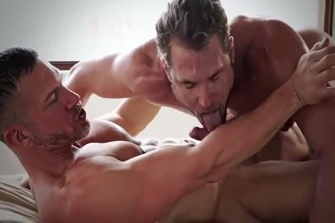 bare Sex And shlong sucking With Hunky muscular homosexuals