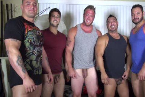 naked Party @ LATINO Muscle Bear house - dilettante fun W/ Aaron Bruiser