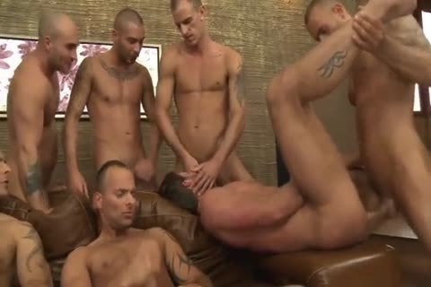 Toby Dutch receives drilled In A Seven-man bareback bunch bunch-sex