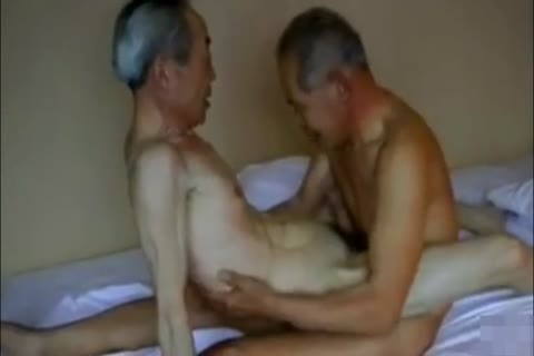 Two lusty And excited Japanese daddy man's plow And engulf!