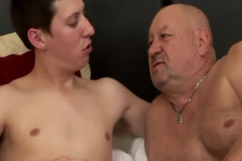 large Dicked twink bonks older overweight grandpa