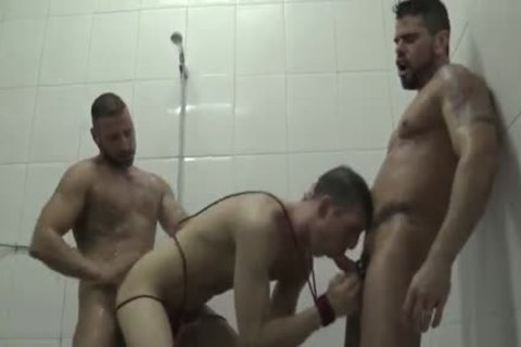 Dominated In The Shower trio Pissing
