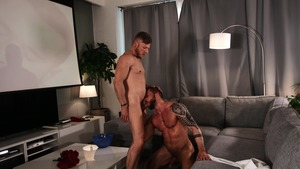 large Screen Narcissus: bare - Matt Anders with Tyler Berg butthole Licking Hump