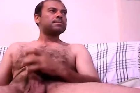 Latin Daddy jack off His fat penis And cum