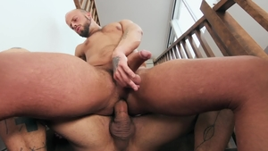 Bo Sinn as well as brown hair Edan Wolf gagging