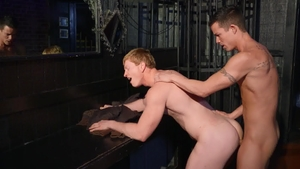 Drill My Hole: Nic Sahara beside Kyle Connors indoor