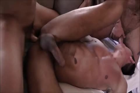 yummy Spanish bare Three-some With Daddies And yummy Hunky Son