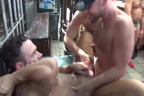 MusclePup Logan Moore acquires gang team-fucked Barebacked fuck
