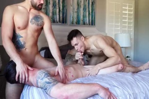 Three WAY! filthy College Males Have amazing homosexual Sex. filthy clip scene