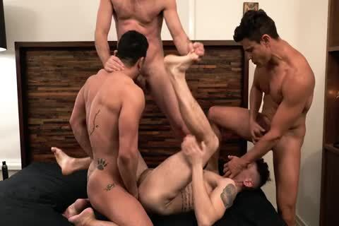 Asher Hawk Services Three Rock-Hard naked dongs