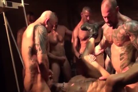 As A Bottom - My Fav Scene Compilation 09 (Muscle Tops In bunch-sex & orgy)