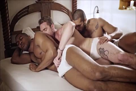 homosexual Interracial 3some