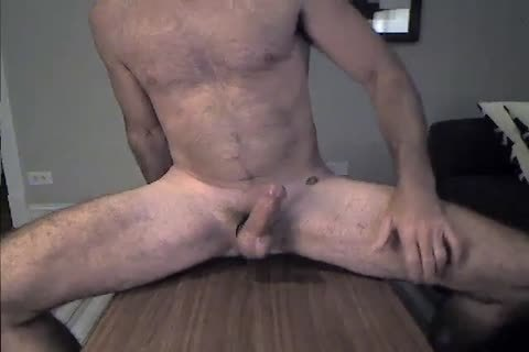 hirsute Daddy Rides A sex toy And Cums 2