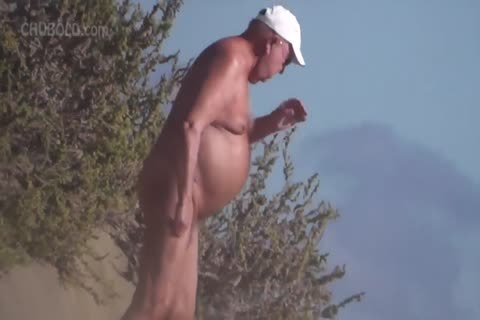 So Many wild daddy men At The naked Beach!
