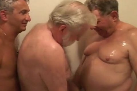 Three Grandpas Have A Great orgy