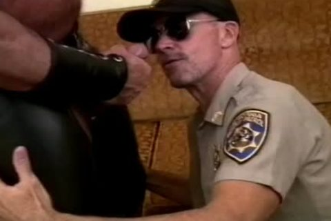 lovely Cop Unfathomable-throats A rock hard penis And Makes It ball cum
