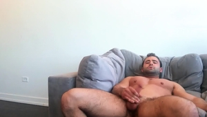 SeanCody: Black hair american bear Reese agrees to real sex