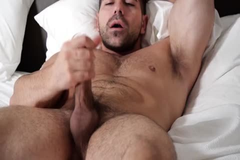 Two Muscle bushy Hunks Hanging together And Stroking schlongs