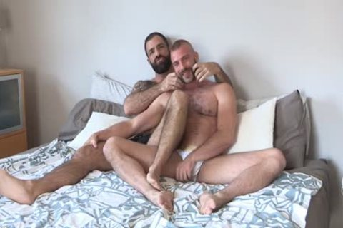Two hirsute Bearded men Having horny pleasure