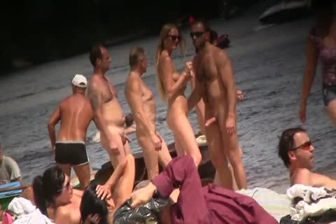 SPYING ON in nature's garb guys AT THE NUDIST BEACH - VOL 1