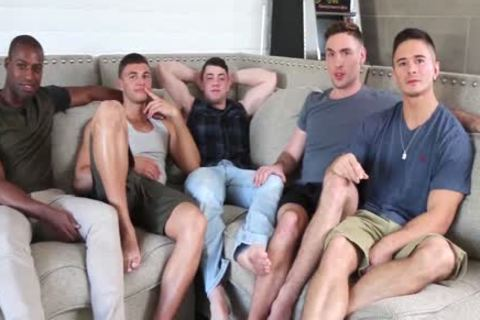 Hottest youthful boys! homosexual 5-Some fuckfest! All those youthful fellows So mad To pound Each Other!