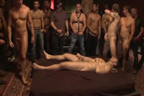 tied Up And nailed In Front Of 100 Excited Males