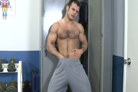hairy Hunk Locker Room Jerkoff