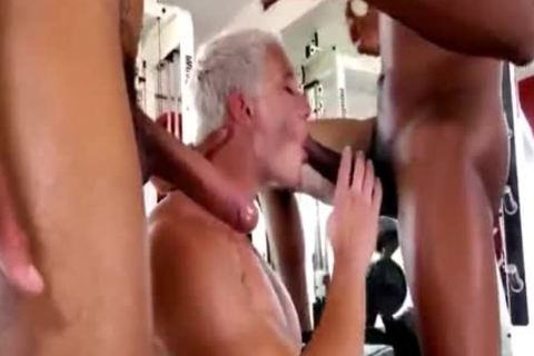 Blond weenie gets pounded By Two black penises
