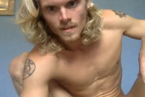 Blond twink Showing His weenie In Live