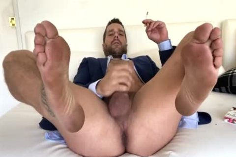 RN Suited dude Smoking & jerking off