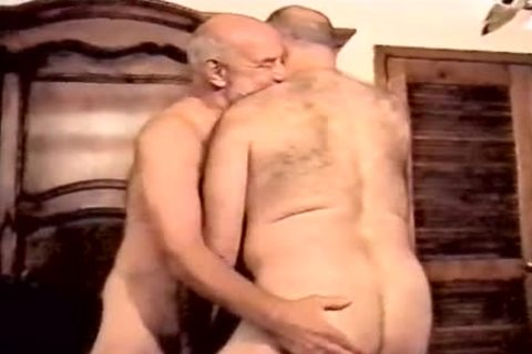 Two stylish daddy men enjoy plowing And engulfing