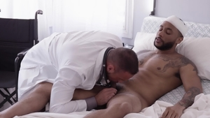 IconMale - American Jaxx Maxim licking ass in hospital