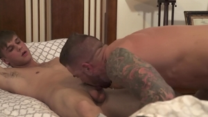 IconMale - DILF Dolf Dietrich impressed by huge cock daddy
