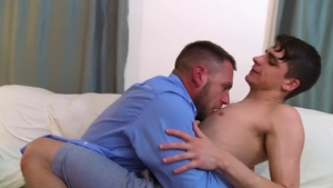 IconMale: Kory Houston plus twink Hans Berlin cock sucking