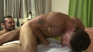 IconMale - Hairy Roman Todd rimjob blowjob cum
