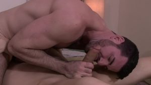Icon Male: Hairy DILF Zack Grayson anal fucked in office