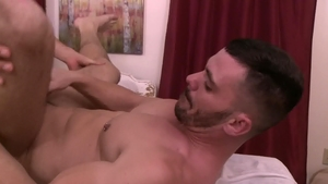 IconMale.com - Calvin Banks next to athletic Brogan Reed