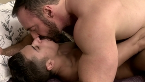 IconMale.com - Hairy latin Brad Kalvo reality rimjob in HD