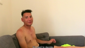 CzechHunter - Brown hair Czech twink bareback handjob