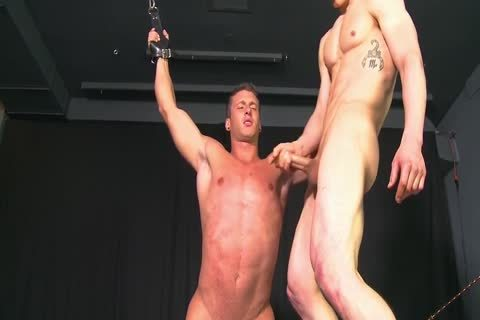 Straight Muscled cock forced To engulf cock bdsm gay thraldom