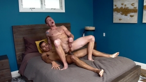 Next Door Originals: Gay Anthony Moore kissing each other