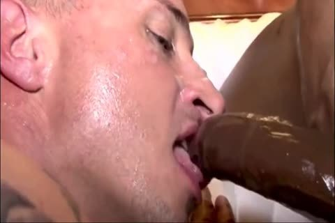 White lad gets Creampied By Two black schlongs