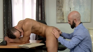 Extra Big Dicks: Sex scene plus bald brunette Javier Cruz