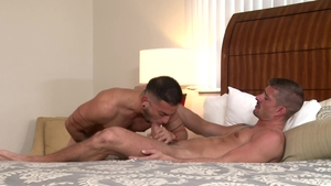 Extra Big Dicks: Cesar Rossi among Sean Maygers condom rimming