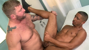 Men Over 30: Hairy and pierced Colby Jansen butt fuck